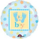 "18"" It's a Boy Feet Foil Balloon"