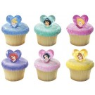 DISNEY PRINCESS Party Cupcake Rings Favors