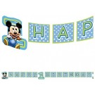 Mickey Mouse 1st Birthday Banner 8ft