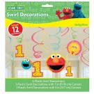 Sesame Street 1st Birthday Swirl Decorations
