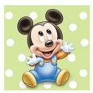 Mickey Mouse 1st Birthday Beverage Napkins