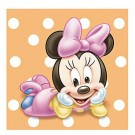 Minnie Mouse 1st Birthday Beverage Napkins