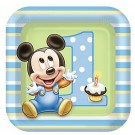 Mickey Mouse 1st Birthday Dessert Plates