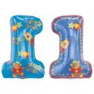 "32"" Hugs & Stitches 1st B-day Boy Foil Balloon"