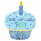 36in Sweet Little Cupcake Boy SuperShape Balloon