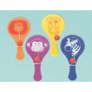 Jungle Animal Paddleball, package of 6 pcs