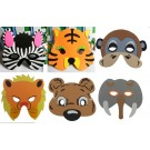 Foam Animal Mask, Package of 6 pcs