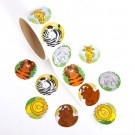 Animal Stickers 1 roll 100pcs