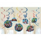 Avengers Swirl Decorations 12pcs