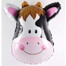 "35"" Cow Head Foil Balloon"