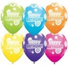"11"" Qualatex Party Assorted Birthday Dots & Glitz"
