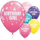 "11"" Qualatex Birthday Girl Assortment"