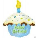 """18"""" Blue Cupcake Foil Balloon"""