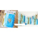 Blue Theme Paper Tassels Garland 20pcs set