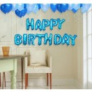 "16"" HAPPY BIRTHDAY Blue Wording Foil Balloons"