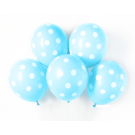 "12"" Light Blue with White Polka Dots Latex Balloons"