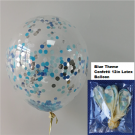12in Blue Theme Confetti Latex Balloon 1pc