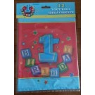 Boy 1st Birthday Blocks Treat Bags 12pcs set