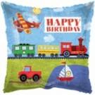 "18"" Happy Birthday Vehicle Foil Balloon"