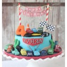 Disney/Pixar's Lightning McQueen Pit Crew Figure Play Set Cake Deco