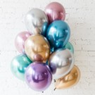 10pcs Qualatex Chrome Latex Balloon Bouquet