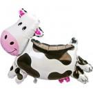 """30"""" Cow Head Foil Balloon"""