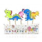 Dinosaurs Pick Candles Set
