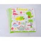 Dinosaur paper napkins 12pcs per pack