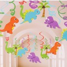 Dinosaur Swirl Hanging Deco 12pcs