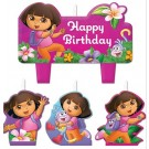 Dora the Explorer Birthday Candles 4pcs