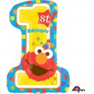 "28"" Elmo 1st Birthday Foil Balloon"