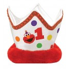 1st Birthday Elmo Plush Crown