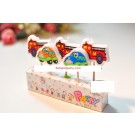 Fire Engines and Cars Pick Candles Set