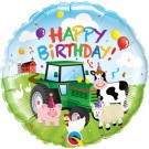 18in Farm Animal Happy Birthday Foil Balloon