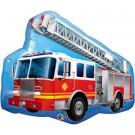 """36"""" Red Fire Truck Jumbo Mylar Balloon"""