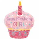36in Sweet Little Cupcake Girl SuperShape Balloon