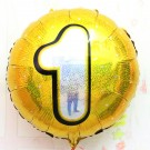 "18"" Gold Shinny #1 Foil Balloon"