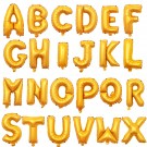 16in Gold Alphabet Wording Foil Balloon