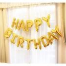 "16"" HAPPY BIRTHDAY glossy gold Foil Balloons"