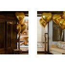 "32"" Gold Heart Balloon"