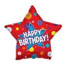 "17"" Happy Birthday Dynamic Star Balloon"