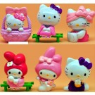Hello Kitty and Melody 6 pcs Figure Topper