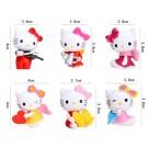 Hello Kitty 6 pcs Angel Cake deco