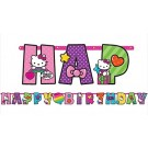 Rainbow Hello Kitty Birthday Banner 10ft