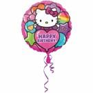 18in hello Kitty Rainbow Happy Birthday Foil Balloon