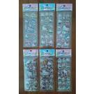 Hello Kitty Bubble Stickers, 6 sheets