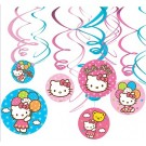 Hello Kitty Swirl Decorations 12pcs