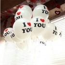"12"" I Love YOU Latex Balloons"