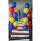11pcs Latex Balloon Display - red, blue and yellow