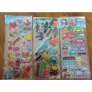 Korea Cute Bubble Stickers, 6 sheets